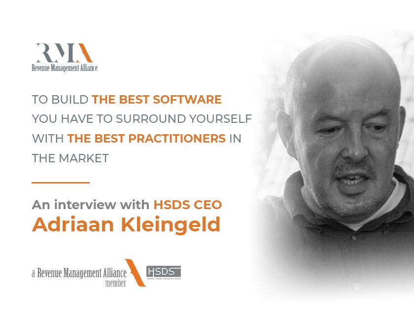 Adriaan Kleinged - Hotel Revenue Management Alliance Founder